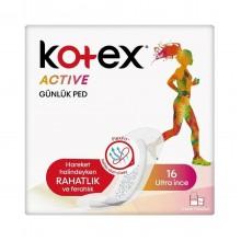 KKOTEX ACTIVE GUNLUK PED 16 LI