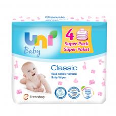 UNI BABY ISLAK HAVLU CLASSIC 56*4 LU